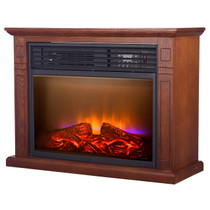 Comfort Glow QF4570R Mobile Quartz Electric Fireplace with Real Flame™ Technology