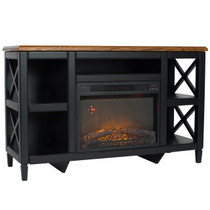 Comfort Glow QEF7541RKD Camden Media Center with Infrared Quartz Electric Fireplace