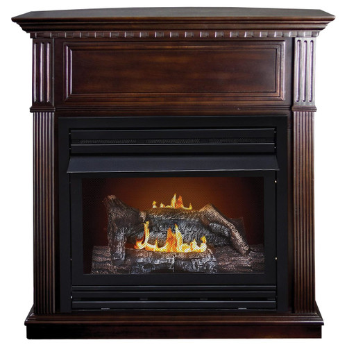 Kozy World GFD2670 The Lincolnshire Propane (LP) or Natural (NG) Gas Vent Free Fireplace, 27500 BTUs