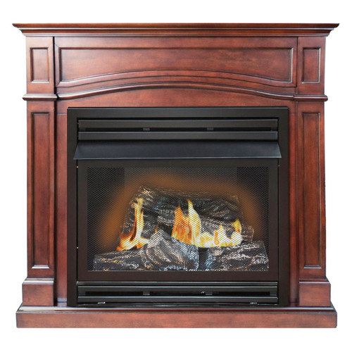 Kozy World GFD3290R The Brentmore Remote Controlled Vent Free Gas Fireplace, 32000 BTUs