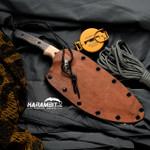 James Coogler's Damascus Mokume CF Prototype Fixed Longbow XL (CooglerDamLongBowXLProto)