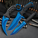 CSGO Counter Strike Blue Fixed Blade Knife Set (17 BV391)