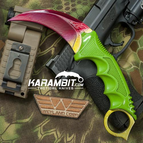 Painted Honshu Toxic Rainbow Karambit