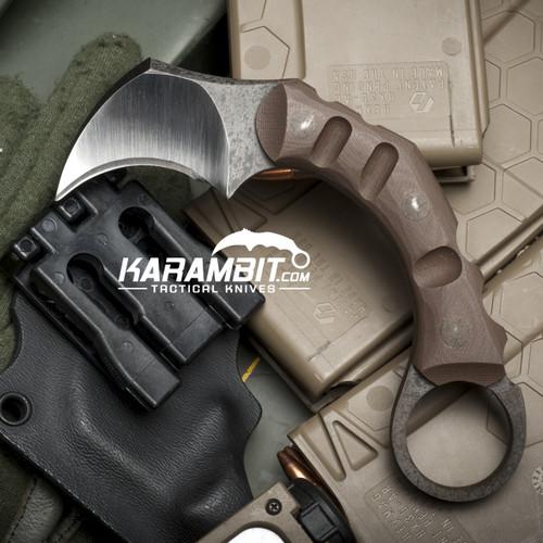 R.S. Knifeworks Brown Rabid Pygmy Karambit