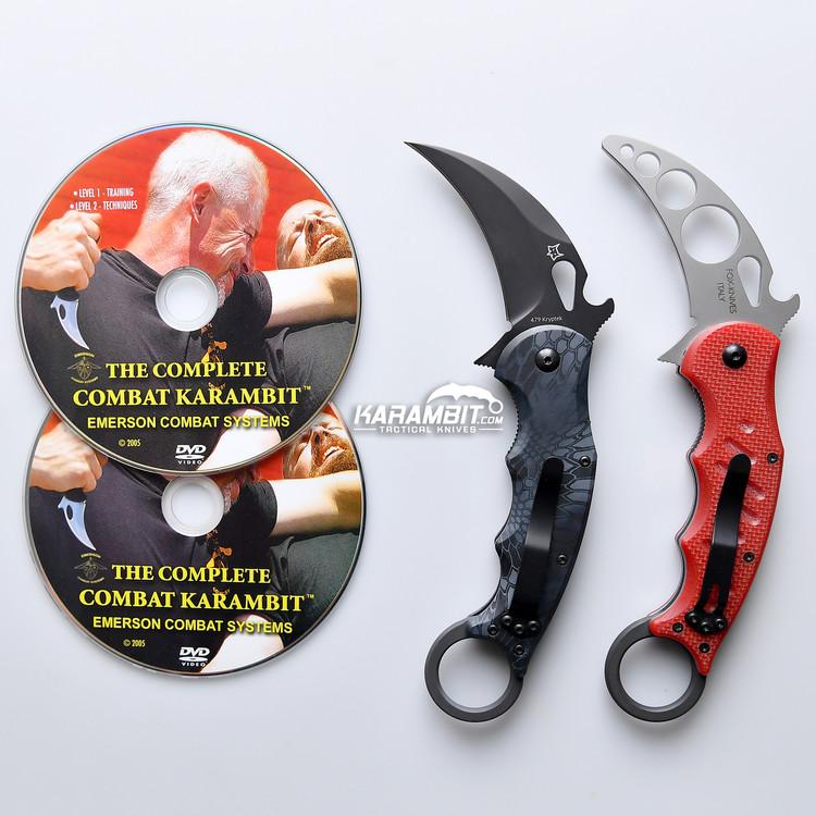 Fox 479 Kryptek Typhon Karambit & DVD Training Package - 3 in 1 (FX479KT+Trainer+DVDPkg)