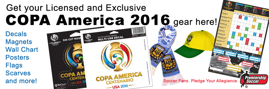 Get your Licensed and Exclusive COPA America 2016 gear here!