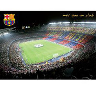 BARCELONA Nou Camp Stadium Official Soccer  Poster 2015/16-#412