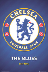 CHELSEA NEW CLUB CREST  Official Soccer Poster-#860