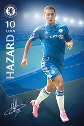 CHELSEA HARZARD Official Soccer Player Poster 2015/16-#295