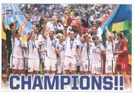 "US WOMENS TEAM ""CHAMPIONS""  Official Soccer Poster-#003"