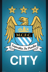 MANCHESTER CITY CREST Official Soccer Poster-#893