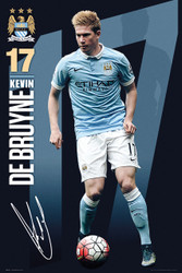 MANCHESTER CITY DE BRUYNE Official Soccer Player Poster 2015/16-#337