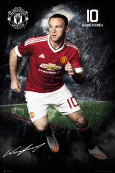 MANCHESTER UNITED ROONEY  Official Soccer Player Poster 2015/16-#281