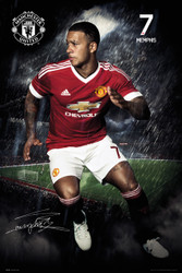MANCHESTER UNITED DEPAY Official Soccer Player Poster 2015/16--#290