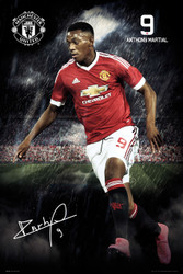 MANCHESTER UNITED MARTIAL Official Soccer Player Poster 2015/16-#328