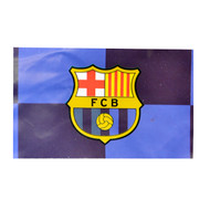 BARCELONA FC QUAD Style Licensed Flag 5' x 3'