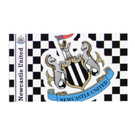NEWCASTLE UNITED FC CHECKARD  Style Licensed Flag 5' x 3'