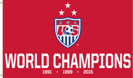 US WNT SOCCER Team Champions Flag  5' x 3'