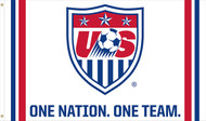US NATIONAL SOCCER  One Nation / One Team Flag 5' x 3'