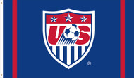US NATIONAL SOCCER Team Crest Flag 5' x 3'