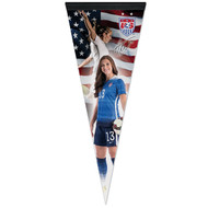 "ALEX MORGAN US WNT Premium Style Fan Pennant 12""x 30"""