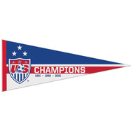 "CHAMPIONS 3 STAR US WNT Premium Style Fan Pennant 12""x 30"""