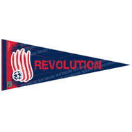 "NEW ENGLAND REVOLUTION FC Premium Style Fan Pennant 12""x 30"""