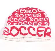 ROBIN RUTH Soccer Fushia/ White Beanie Hat