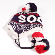 ROBIN RUTH Soccer Blue/Red/ White Kids Winter Hat