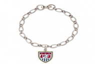 US NATIONAL SOCCER TEAM Chrome Bracelet with Crest