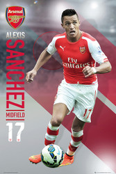 ARSENAL FC  PLAYERS  Official Alexis Sanchez Poster 14/15-#137