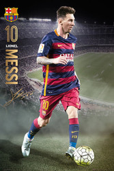 A- BARCELONA FC, Messi Official Soccer Action Poster 2015/16