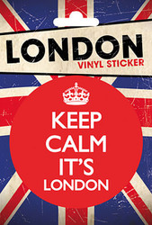 LONDON Vinyl Stickers- Keep Calm It's London