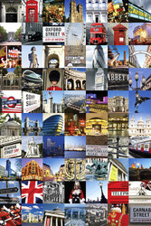 LONDON- Collage of London Poster-#402