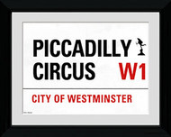 LONDON Framed Photos- Piccadilly Circus Street Sign