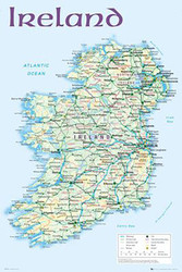 MAP OF IRELAND Licensed Poster, #724