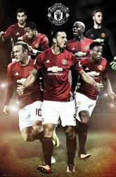 MANCHESTER UNITED PLAYERS  Official Soccer Poster 2016/17-#376