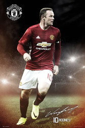 MANCHESTER UNITED ROONEY  Official Soccer Player Poster 2016/17-#377