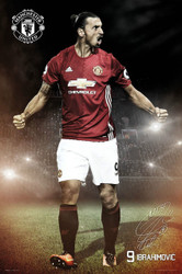 MANCHESTER UNITED IBRAHIMOVIC  Official  Player Poster 2016/17-#375