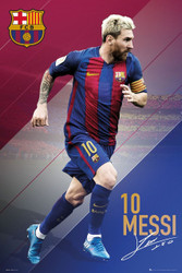 BARCELONA FC, Messi Official Soccer Action Poster 2016/17-#399