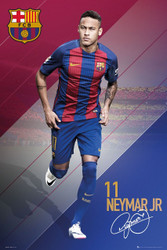 BARCELONA FC, Neymar Official Soccer Action Poster 2016/17-#402