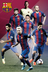 BARCELONA  FC Superstars Soccer Players Poster 2016/17-#400