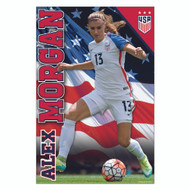 US WOMEN'S Alex Morgan -Home Official Soccer Poster-New 2016/17
