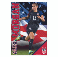 Alex Morgan Action Poster 2017 | Away Jersey-#114