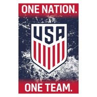 USA  NATIONAL TEAM CREST/ ONE NATION- Official Soccer Poster 2016/17
