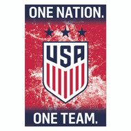 USA  WOMENS TEAM CREST/ 3 STARS- Official Soccer Poster 2016/17