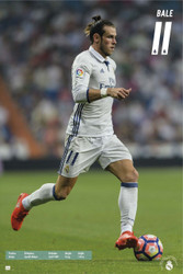 REAL MADRID, Bale Action Soccer Player Poster 2016/17-#75