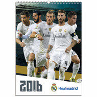 Real Madrid FC Official Team Calendar 2016 (FRONT) - Buy Online SoccerMadUSA.com