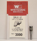 WHITESIDE MACHINE 3000 TEMPLATE BIT W/BALL BEARING GUIDE 1/2CD 1/4CL 1/4SHANK