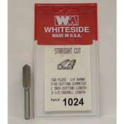 STRAIGHT BIT 7/16-CD -1-CL 1/4-SHANK 2-1/2OAL 2-FLUTE WHITESIDE MACHINE 1024